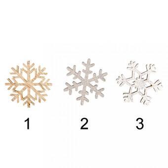 Деревянные снежинки, ø 3.8 см - Объемные элементы