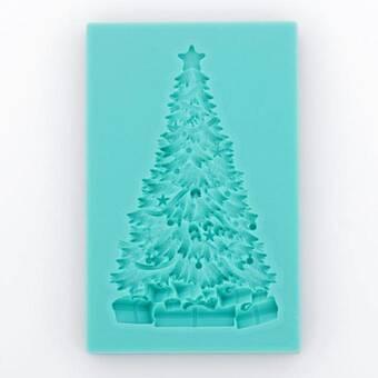 """Молд """"Новогодняя елка с подарками"""" - Для моделирования"""