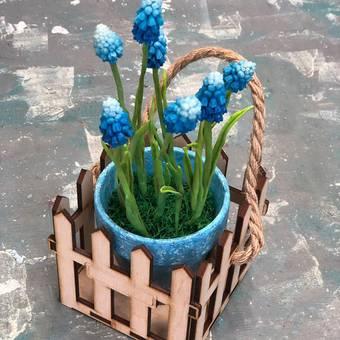 """Заготовка """"Корзинка для цветов с заборчиком"""" - Другое"""