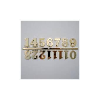 Набор цифр для часов 15 мм, золото - Основы для часов