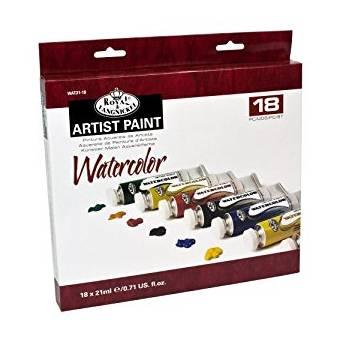 """Набор акварельных красок """"Royal&Langnickel"""", 18 тюбиков в картонной упаковке - Краски"""