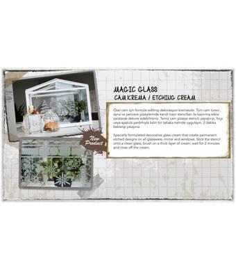 Медиум для творчества - паста для травления стекла Magic Glass, 59 мл - Для стекла и керамики