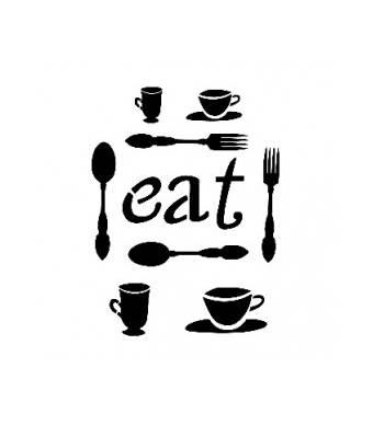 """Трафарет """"EAT"""", А4 - Трафареты"""