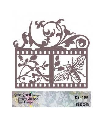 "Трафарет - маска ""Пчела-стрекоза-фото"", коллекция ""Trendy Shadow"", 25*25 см - Трафареты"