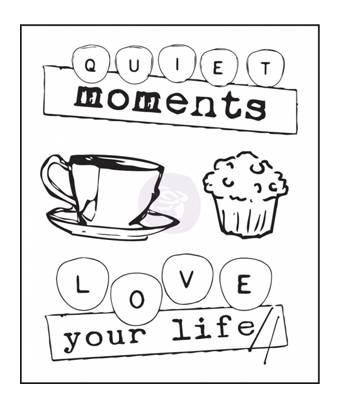 Набор силиконовых штампов Quiet Moments, 4 шт., 6х7 см - Штампы