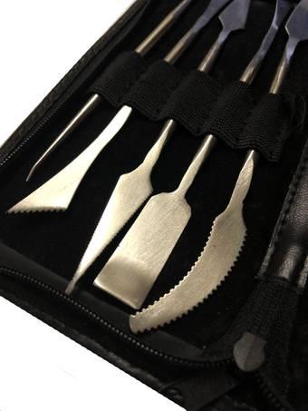 Набор инструментов для работы с гипсом (в чехле) - Инструменты