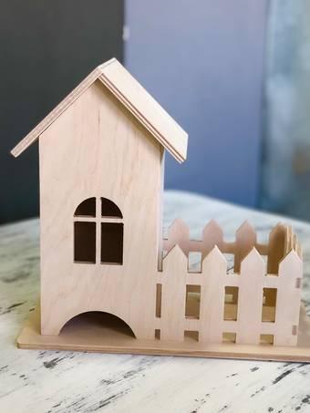 """Заготовка """"Чайный домик с забором"""", 27*13*24 см - Чайные домики"""