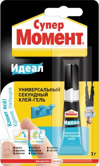 """Клей-гель универсальный секундный """"Супер Момент"""", 3 г. - Клей"""