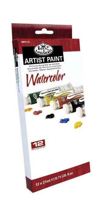 """Набор акварельных красок """"Royal&Langnickel"""", 12 тюбиков в картонной упаковке - Краски"""
